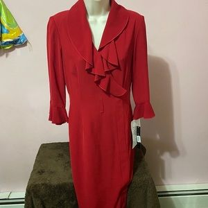 Tahari size 2 red dress new with tags